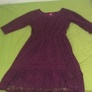 Mauve Lace Flowy Dress